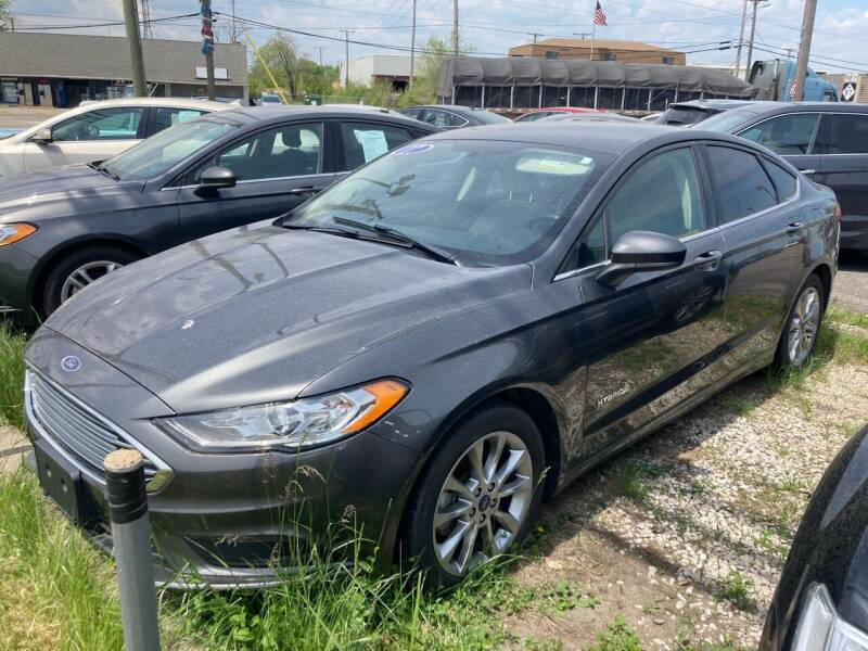 2017 Ford Fusion Hybrid for sale at M-97 Auto Dealer in Roseville MI