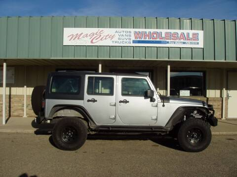 2018 Jeep Wrangler JK Unlimited for sale at Magic City Wholesale in Minot ND