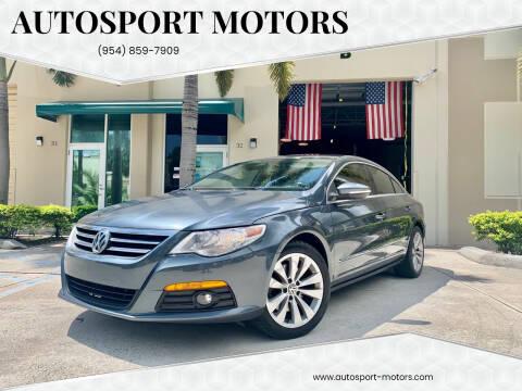 2010 Volkswagen CC for sale at AUTOSPORT MOTORS in Lake Park FL