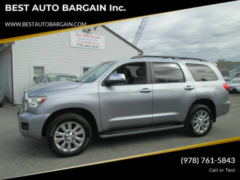 2012 Toyota Sequoia for sale at BEST AUTO BARGAIN inc. in Lowell MA