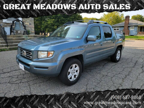 2007 Honda Ridgeline for sale at GREAT MEADOWS AUTO SALES in Great Meadows NJ