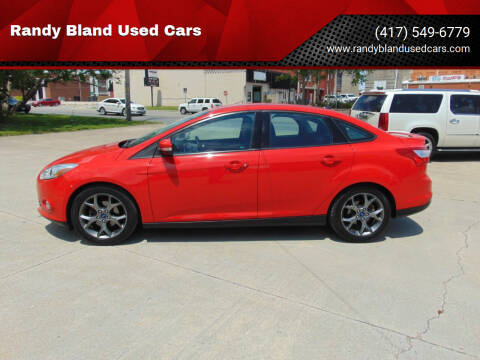 2014 Ford Focus for sale at Randy Bland Used Cars in Nevada MO