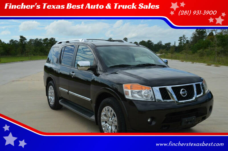 2015 Nissan Armada for sale at Fincher's Texas Best Auto & Truck Sales in Tomball TX