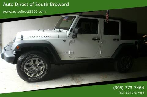 2014 Jeep Wrangler Unlimited for sale at Auto Direct of South Broward in Miramar FL