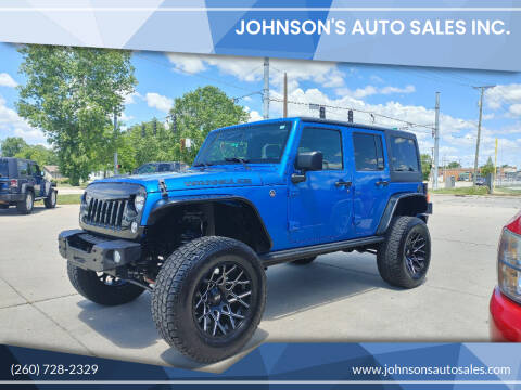 2016 Jeep Wrangler Unlimited for sale at Johnson's Auto Sales Inc. in Decatur IN