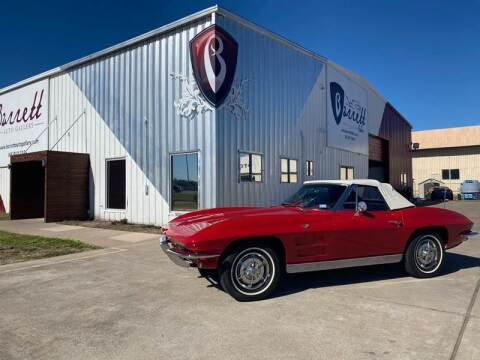 1963 Chevy Corvette Conv for sale at Barrett Auto Gallery in San Juan TX