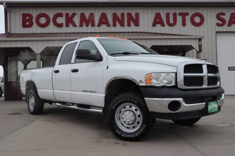 2005 Dodge Ram Pickup 3500 for sale at Bockmann Auto Sales in St. Paul NE