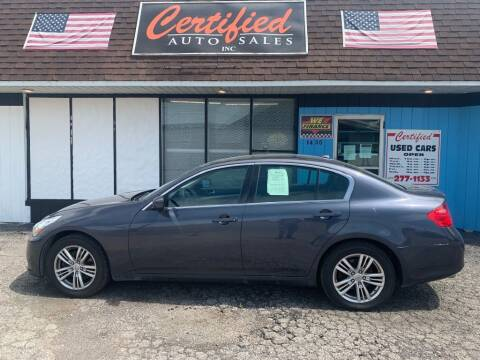 2013 Infiniti G37 Sedan for sale at Certified Auto Sales, Inc in Lorain OH