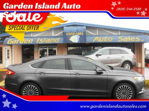 2017 Ford Fusion for sale at Garden Island Auto Sales in Lihue HI