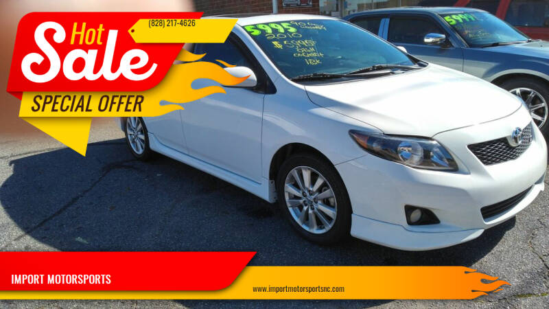 2010 Toyota Corolla for sale at IMPORT MOTORSPORTS in Hickory NC