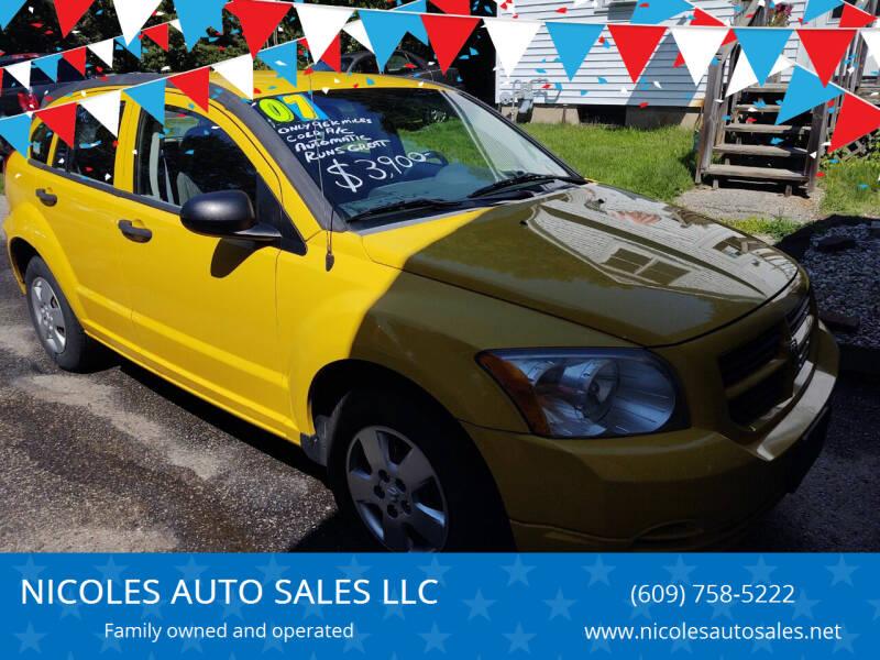 2007 Dodge Caliber for sale at NICOLES AUTO SALES LLC in Cream Ridge NJ