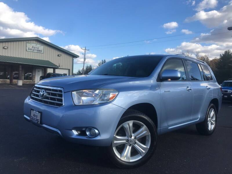 2008 Toyota Highlander for sale at Lakes Area Auto Solutions in Baxter MN