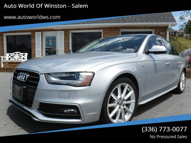 2015 Audi A4 for sale at Auto World Of Winston - Salem in Winston Salem NC