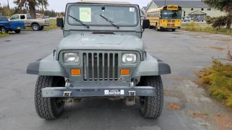 1992 Jeep Wrangler for sale at Great Alaska Car Co. in Soldotna AK