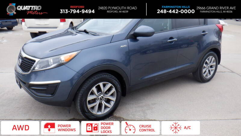 2015 Kia Sportage for sale at Quattro Motors 2 in Farmington Hills MI