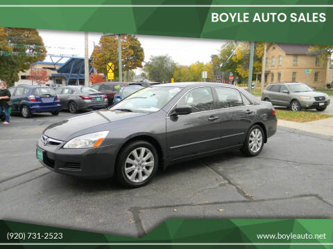 2007 Honda Accord for sale at Boyle Auto Sales in Appleton WI