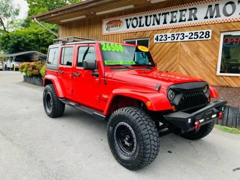 2013 Jeep Wrangler Unlimited for sale at Kerwin's Volunteer Motors in Bristol TN