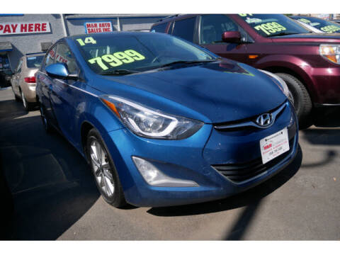 2014 Hyundai Elantra for sale at M & R Auto Sales INC. in North Plainfield NJ