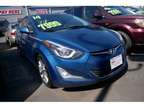 2014 Hyundai Elantra for sale at M & R Auto Sales INC. in North Plainfield NJ