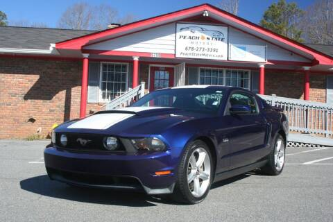 2012 Ford Mustang for sale at Peach State Motors Inc in Acworth GA
