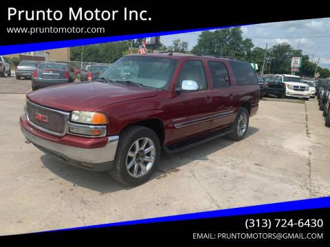 2002 GMC Yukon XL for sale at Prunto Motor Inc. in Dearborn MI