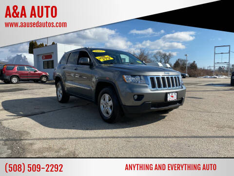 2012 Jeep Grand Cherokee for sale at A&A AUTO in Fairhaven MA