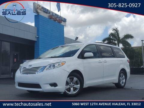 2017 Toyota Sienna for sale at Tech Auto Sales in Hialeah FL