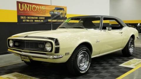 1968 Chevrolet Camaro for sale at UNIQUE SPECIALTY & CLASSICS in Mankato MN