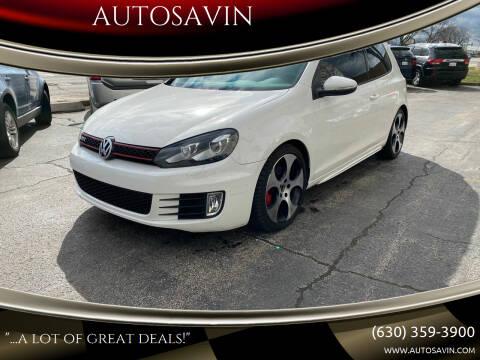 2012 Volkswagen GTI for sale at AUTOSAVIN in Elmhurst IL