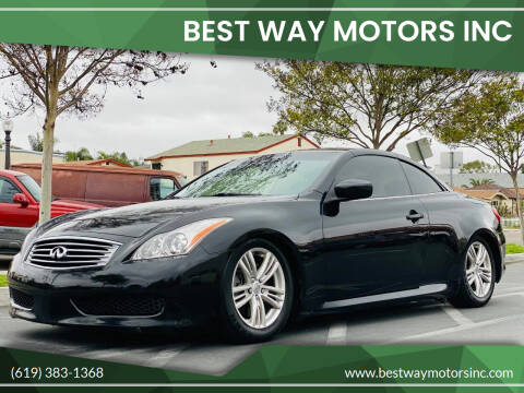 2010 Infiniti G37 Convertible for sale at BEST WAY MOTORS INC in San Diego CA