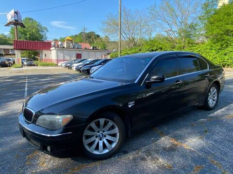 2006 BMW 7 Series for sale at Car Online in Roswell GA
