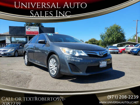 2013 Toyota Camry for sale at Universal Auto Sales Inc in Salem OR