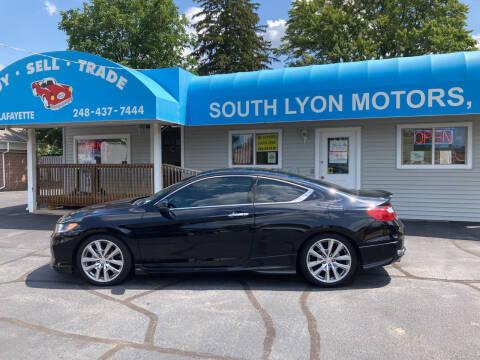 2013 Honda Accord for sale at South Lyon Motors INC in South Lyon MI