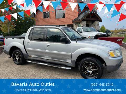 2002 Ford Explorer Sport Trac for sale at Bavaria Auto Outlet in Victoria MN