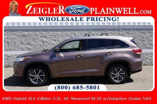 2018 Toyota Highlander Hybrid for sale at Zeigler Ford of Plainwell- Jeff Bishop in Plainwell MI