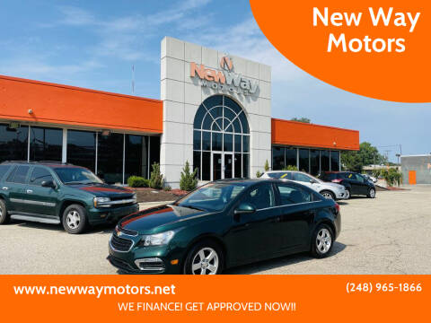 2015 Chevrolet Cruze for sale at New Way Motors in Ferndale MI