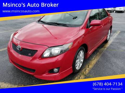 2009 Toyota Corolla for sale at Msinco's Auto Broker in Snellville GA