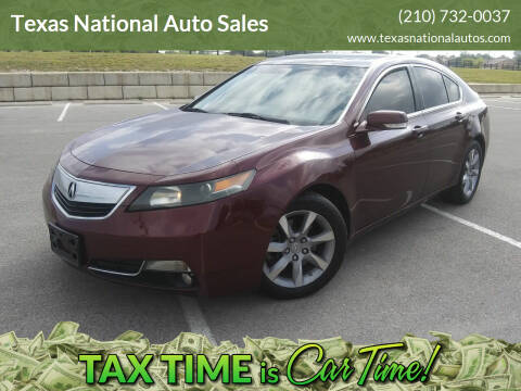 2012 Acura TL for sale at Texas National Auto Sales in San Antonio TX