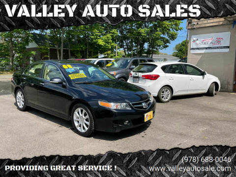 2008 Acura TSX for sale at VALLEY AUTO SALES in Methuen MA