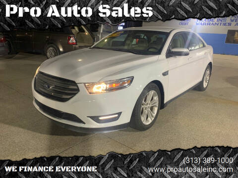 2013 Ford Taurus for sale at Pro Auto Sales in Lincoln Park MI