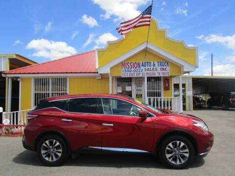 2016 Nissan Murano for sale at Mission Auto & Truck Sales, Inc. in Mission TX