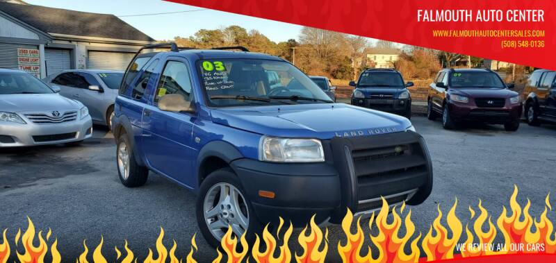 2003 Land Rover Freelander for sale at Falmouth Auto Center in East Falmouth MA