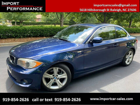 2013 BMW 1 Series for sale at Import Performance Sales in Raleigh NC