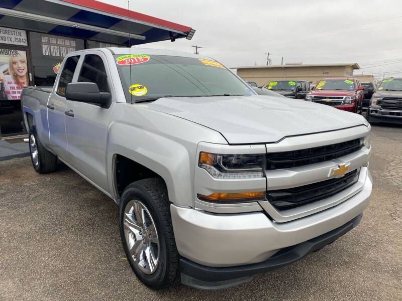 2018 Chevrolet Silverado 1500 for sale at Cow Boys Auto Sales LLC in Garland TX