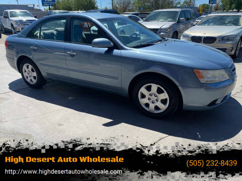 2010 Hyundai Sonata for sale at High Desert Auto Wholesale in Albuquerque NM