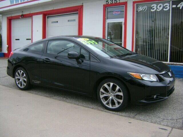 2012 Honda Civic for sale at Cedar Auto Sales in Lansing MI