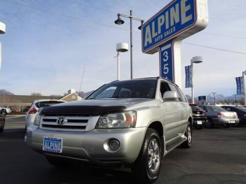 2004 Toyota Highlander for sale at Alpine Auto Sales in Salt Lake City UT