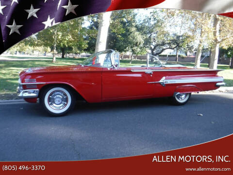1960 Chevrolet Impala for sale at Allen Motors, Inc. in Thousand Oaks CA