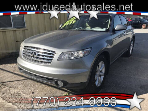 2004 Infiniti FX35 for sale at J D USED AUTO SALES INC in Doraville GA