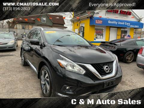 2016 Nissan Murano for sale at C & M Auto Sales in Detroit MI